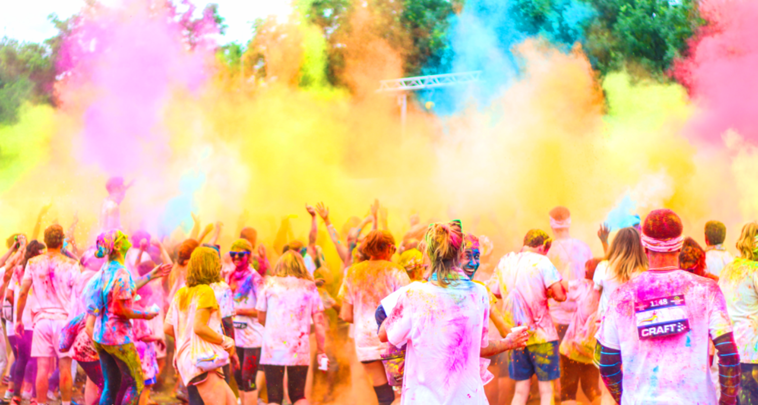 holi color run bow colors course