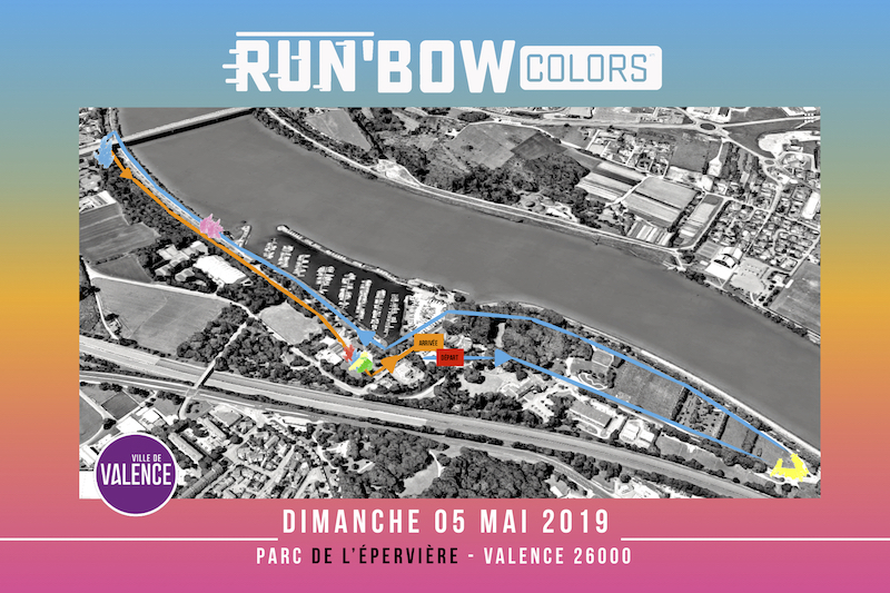 Parcours 2019 RUN'BOW COLORS